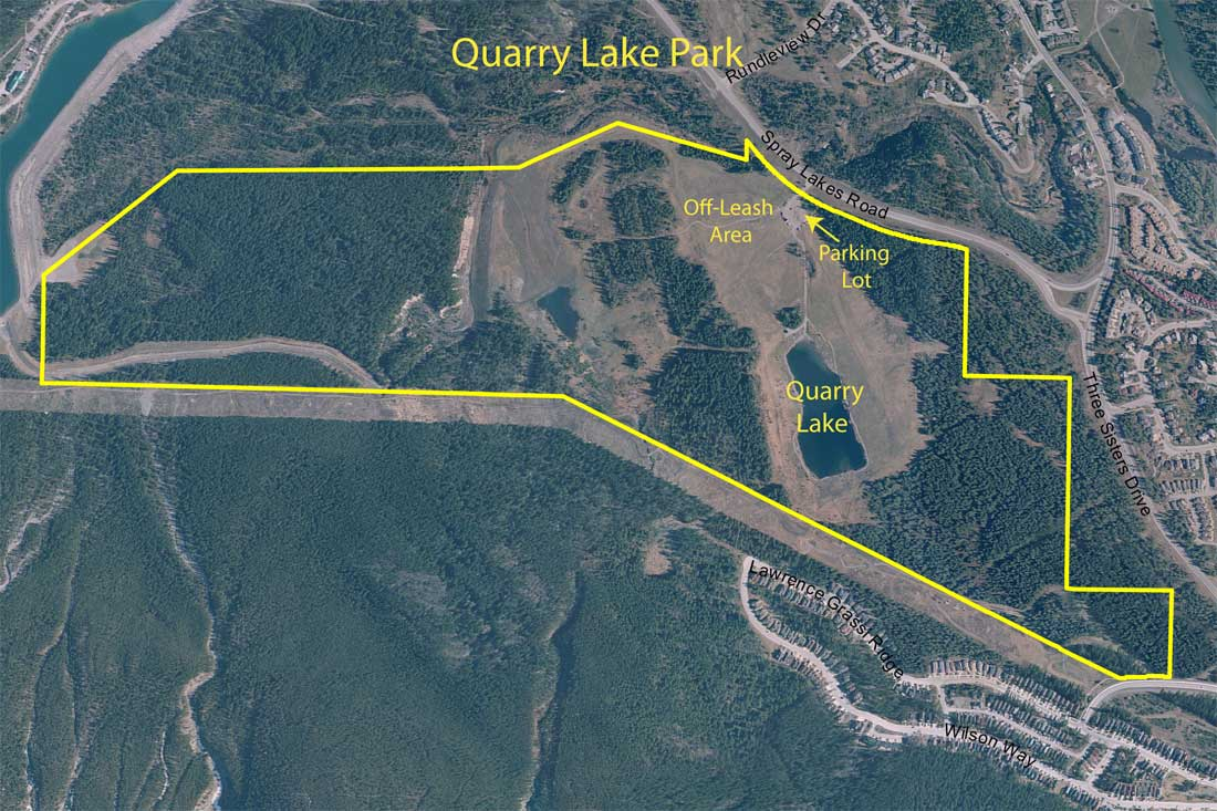 Quarry Lake Park area map